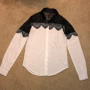 GLO Sheer & Lace Blouse